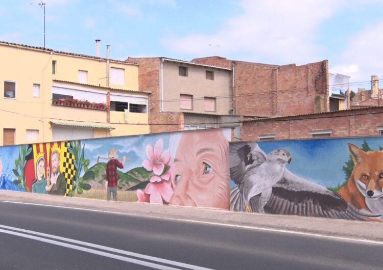 Castelló de Farfanya inaugura un mural per posar en valor el seu patrimoni