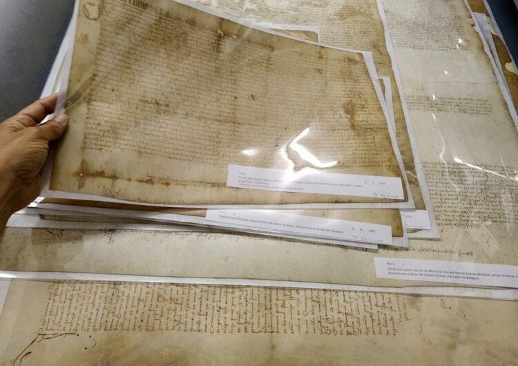 L'Arxiu Comarcal de la Noguera restaura uns pergamins de Santa Linya dels anys 1334 al 1572