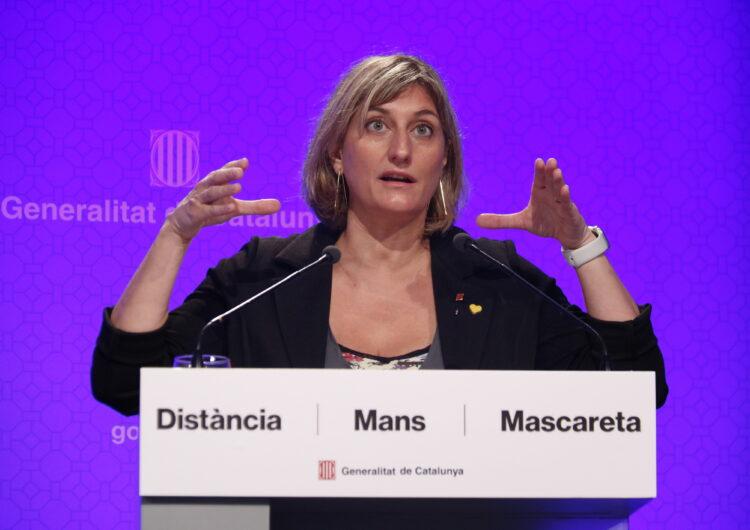 Vergés portarà al Govern aquest dimarts l'obligatorietat de l'ús de mascareta a Catalunya encara que hi hagi distància