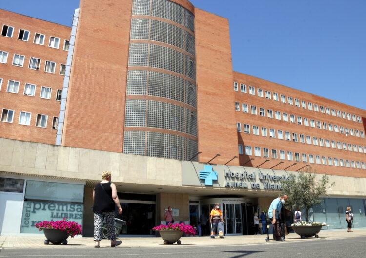 Baixen a 189 els hospitalitzats amb coronavirus a la regió sanitària de Lleida, dos menys que dimarts