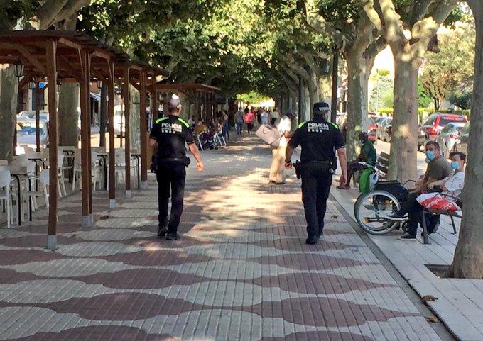 Balaguer multa deu persones en 48h per no portar mascareta