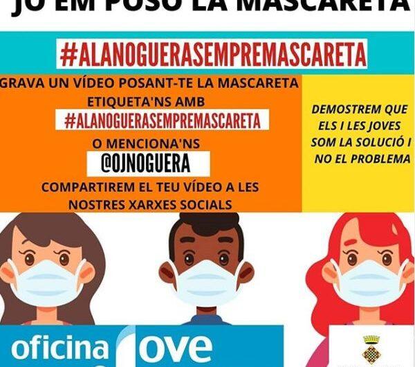 L'Oficina Jove de la Noguera engega una campanya per fomentar l'ús de la mascareta entre el jovent