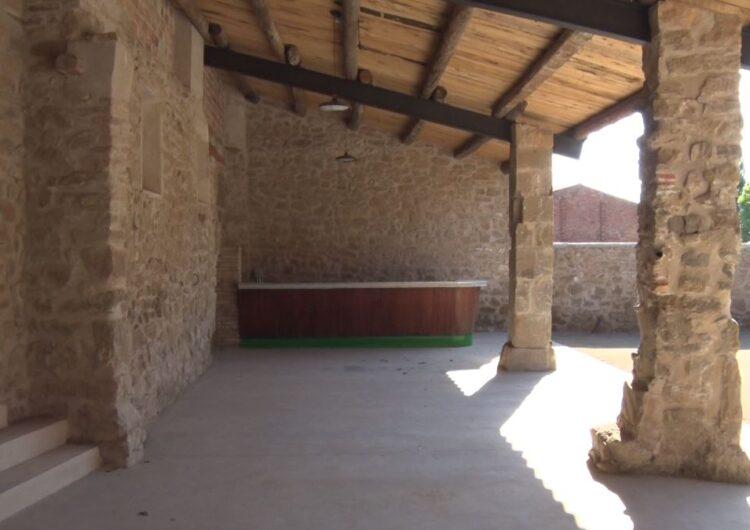 Montgai recupera i restaura la porxada de La Fassina