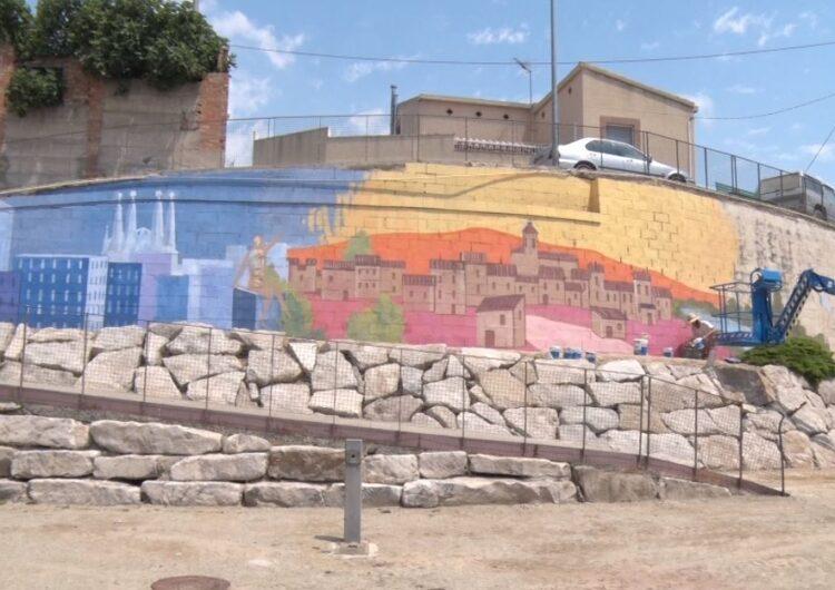 Menàrguens pinta un mural en el marc del actes commemoratius de l'Any Barceló