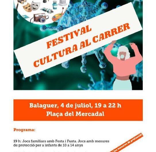 """Òmnium Cultural organitza aquest dissabte el festival """"Cultura al carrer"""" a la plaça Mercadal de Balaguer"""