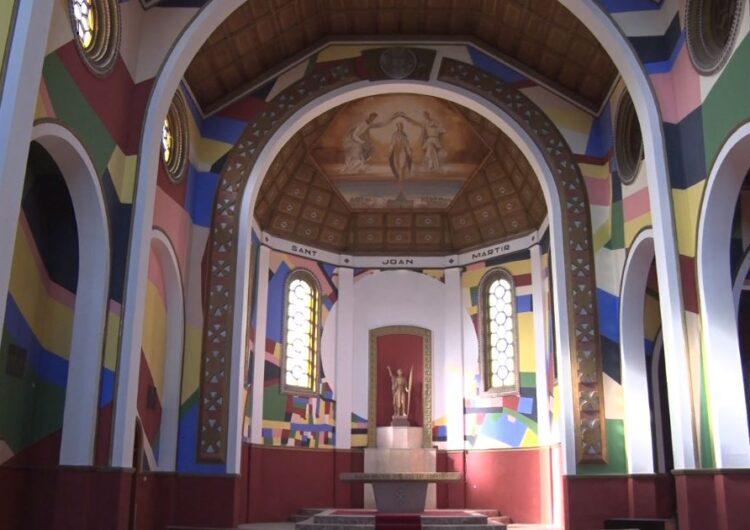 L'artista Berni Puig transforma l'església nova de Sant Joan Baptista de Penelles