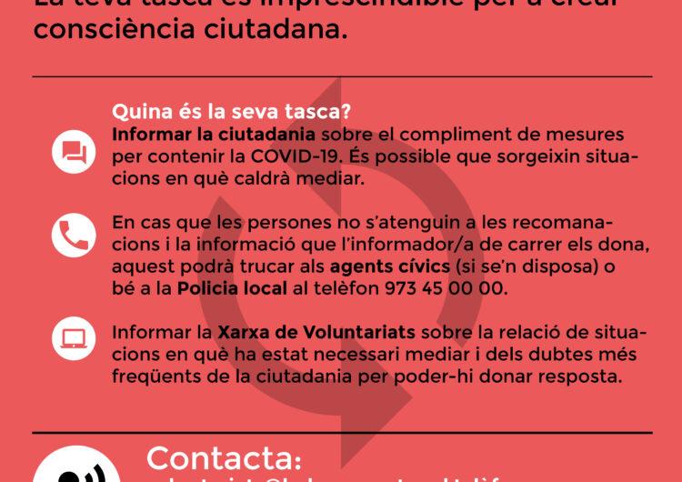 Balaguer reactiva la Xarxa de Voluntariats i incorpora els voluntaris cívics