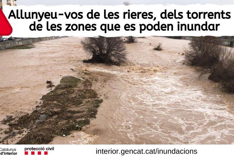 Protecció Civil alerta que s'acumularan més de 100 litres el metre quadrat a diversos punts de Catalunya