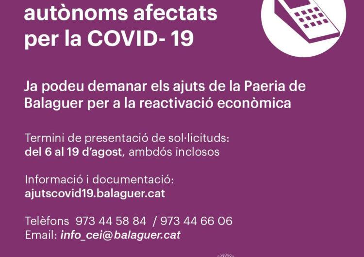 Balaguer activa els 100.000 d'ajudes pel comerç i el teixit empresarial de la ciutat