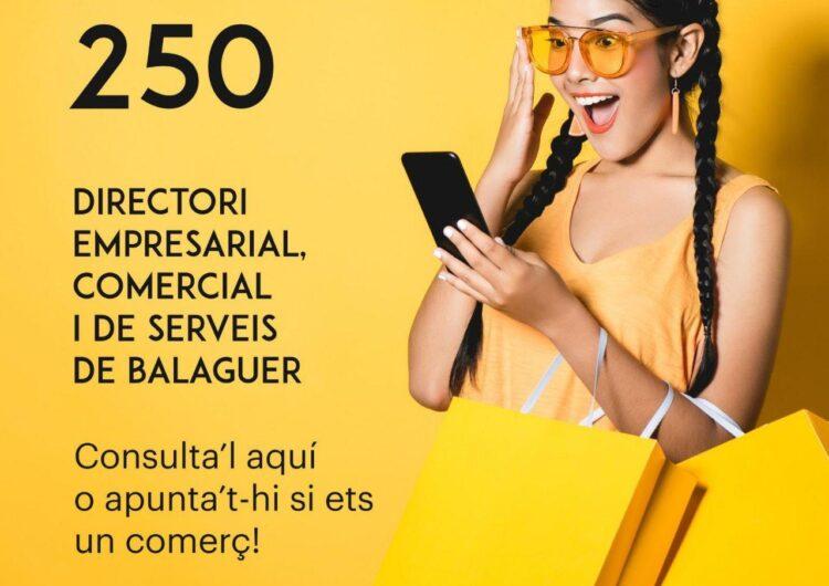 El directori empresarial, comercial i de serveis de Balaguer arriba als 250 participants