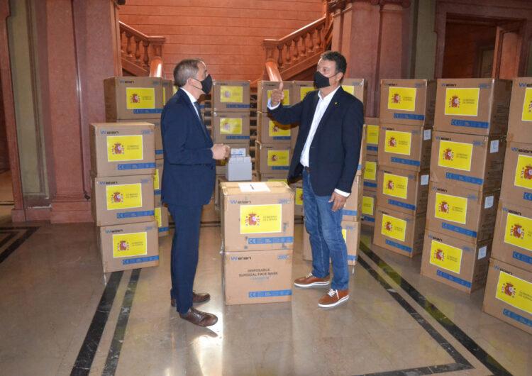 La Diputació de Lleida repartirà 74.500 mascaretes entre consells comarcals i ajuntaments