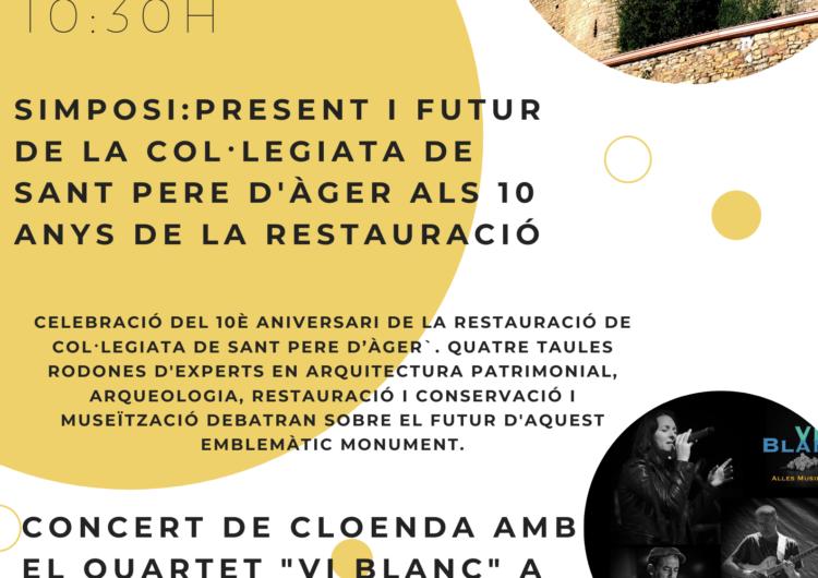 """La """"Col·legiata de Sant Pere d'Àger"""" celebra el 10è aniversari de la seva restauració"""