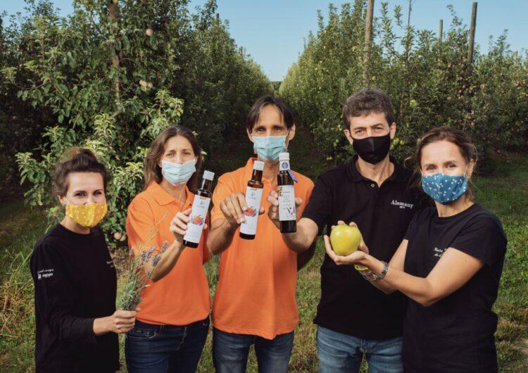 Tres empreses familiars lleidatanes presenten un vinagre de poma de Lleida amb mel de lavanda 100% ecològic