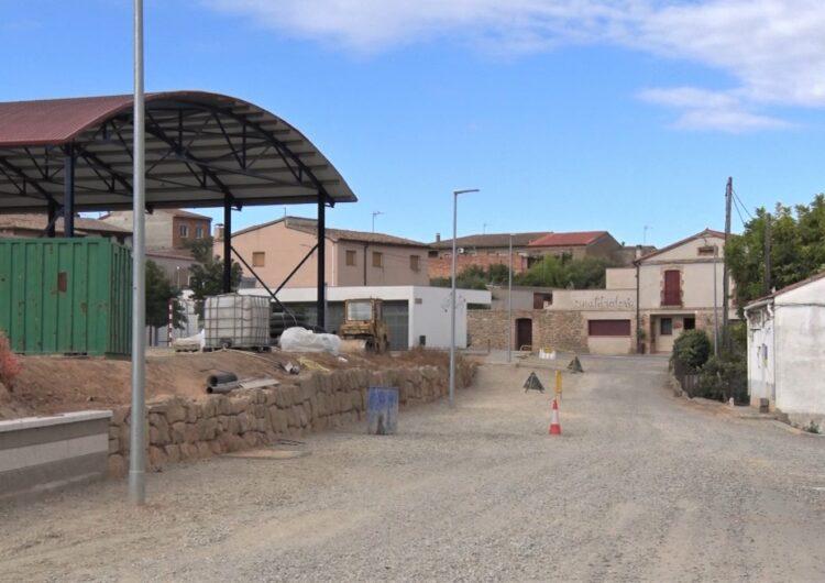 Montgai encara la recta final a les obres d'accés al pavelló