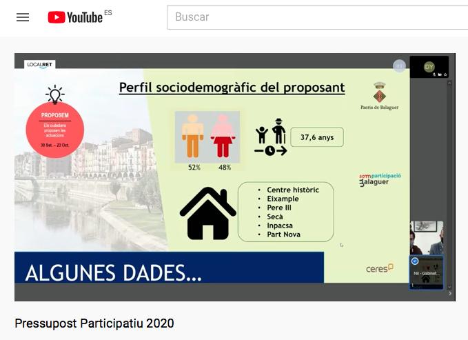 Alta participació en la fase propositiva dels Pressupostos participatius de Balaguer