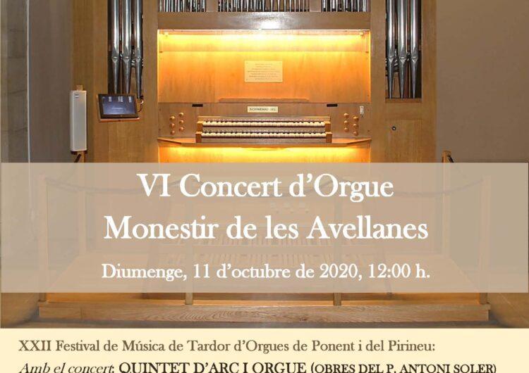 El Monestir de les Avellanes celebra el 6è Concert d'Orgue