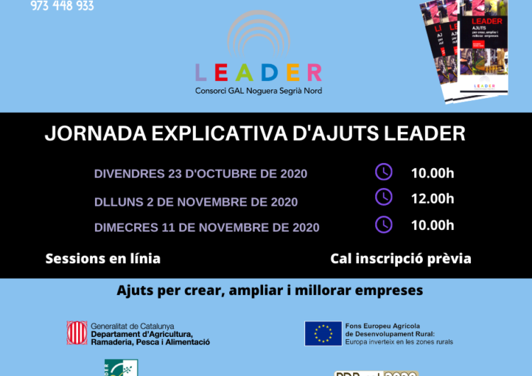 Oberta la convocatòria 2020 dels ajuts Leader per a la creació, ampliació i millora d'empreses