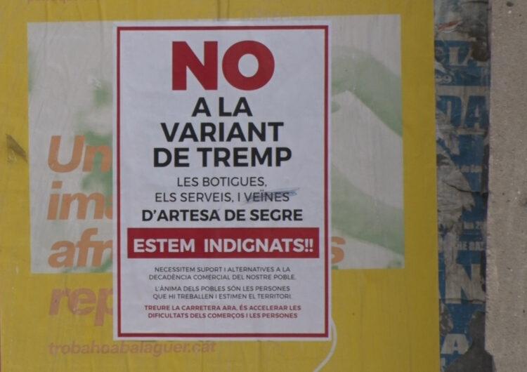 Els comerços d' Artesa de Segre s'oposen a la construcció de la variant de Tremp