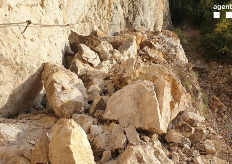 Tanquen les vies d'accés al congost de Mont-Rebei