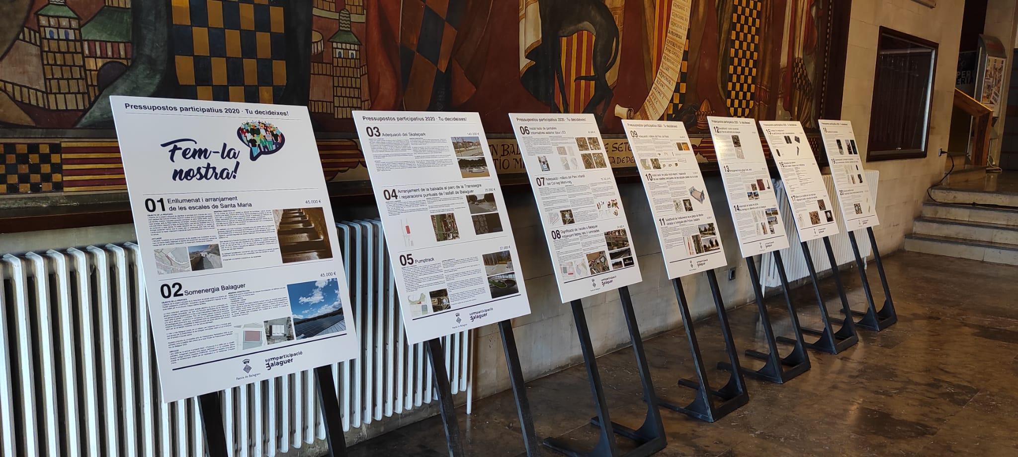 Últim dia de votació de les propostes dels Pressupostos participatius 2020 de Balaguer