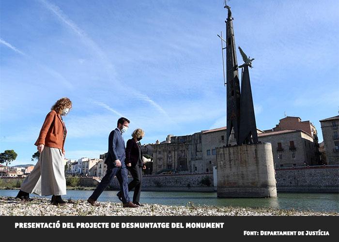 La Generalitat retirarà el monument franquista de Tortosa aquest estiu