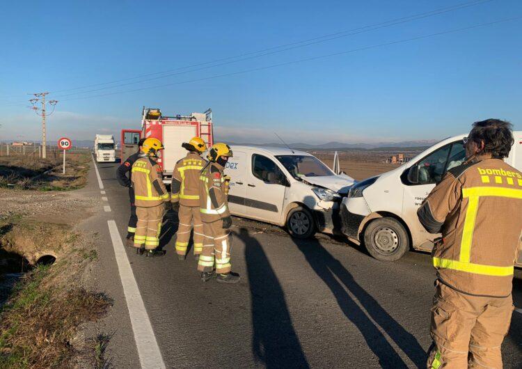 Un ferit lleu en un accident a la C-53 a Bellcaire d'Urgell