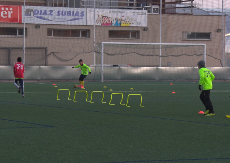 El futbol base balaguerí torna als entrenaments sense perspectiva de poder competir de manera immediata