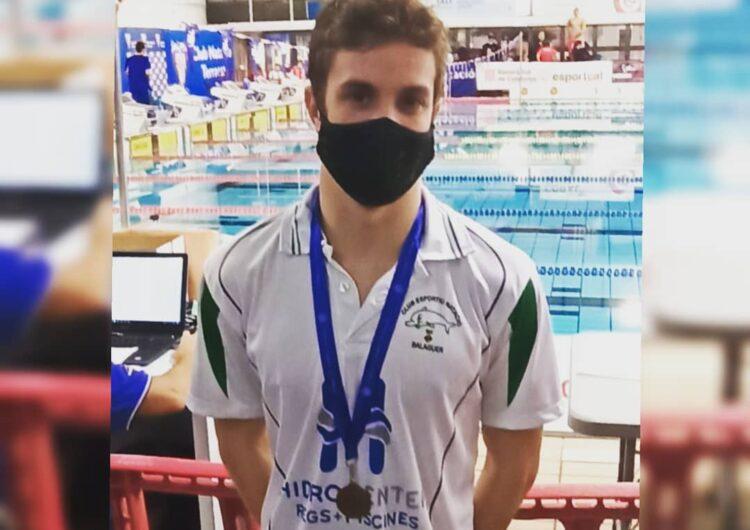 El nedador del CEN Balaguer David Pedrós aconsegueix una medalla de bronze al trofeu Internacional de Catalunya de natació