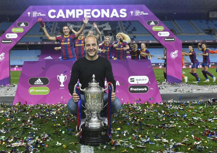 El Barça, entrenat pel balaguerí Lluis Cortés, guanya la Copa de la Reina