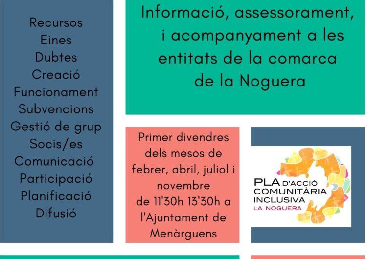 Els Serveis Socials del Consell Comarcal es desplaçaran presencialment als municipis de la Noguera per revifar l'associacionisme