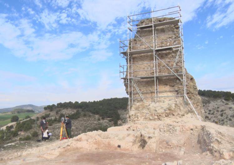 Troballa a les obres de reparació de la Torre Blanca de Castelló de Farfanya