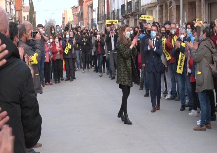 Emocionant benvinguda a Meritxell Serret a Vallfogona de Balaguer