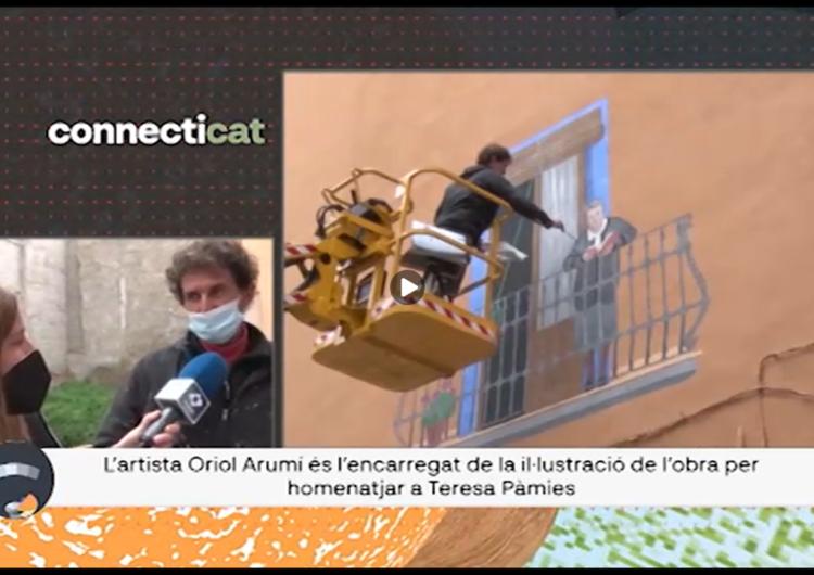 """Connecti.cat: A Balaguer, nou mural de la col·lecció """"Balcons Il·lustrats"""" dedicat a Teresa Pàmies"""