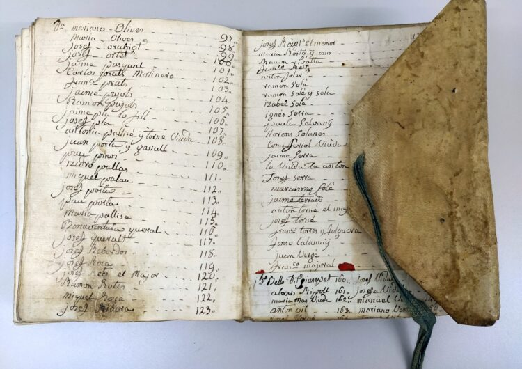 Ingressa a l'Arxiu de la Noguera un llibre de l'antiga Comanda de Sant Joan de Jerusalem de Térmens del S.XIX