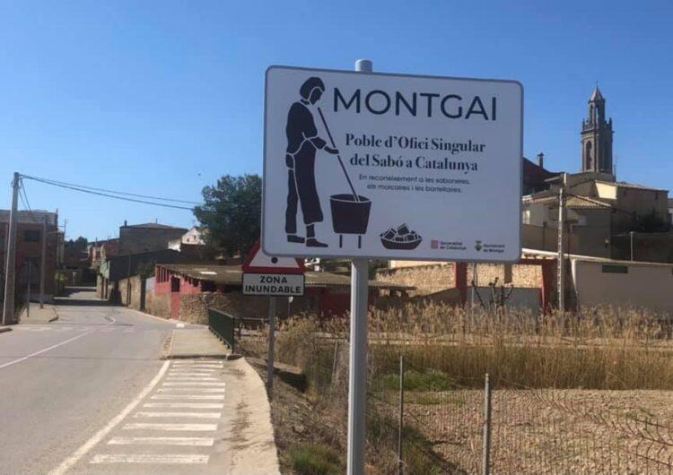 """Montgai estrena cartells de """"Poble d'Ofici Singular del Sabó de Catalunya"""""""