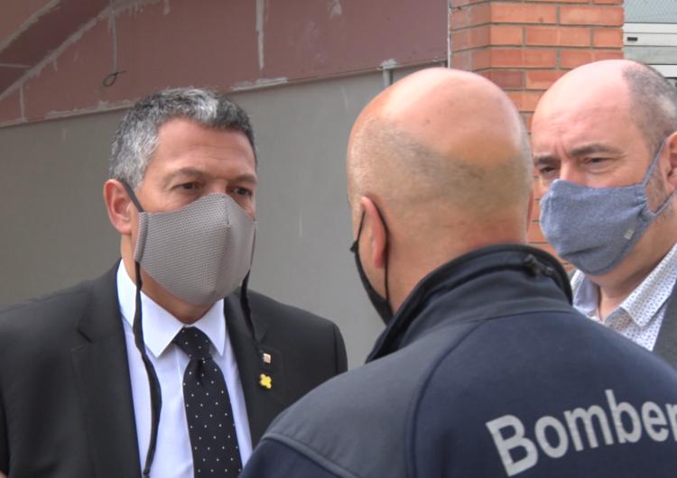 El Conseller Sàmper visita les instal·lacions del Parc de Bombers de Balaguer