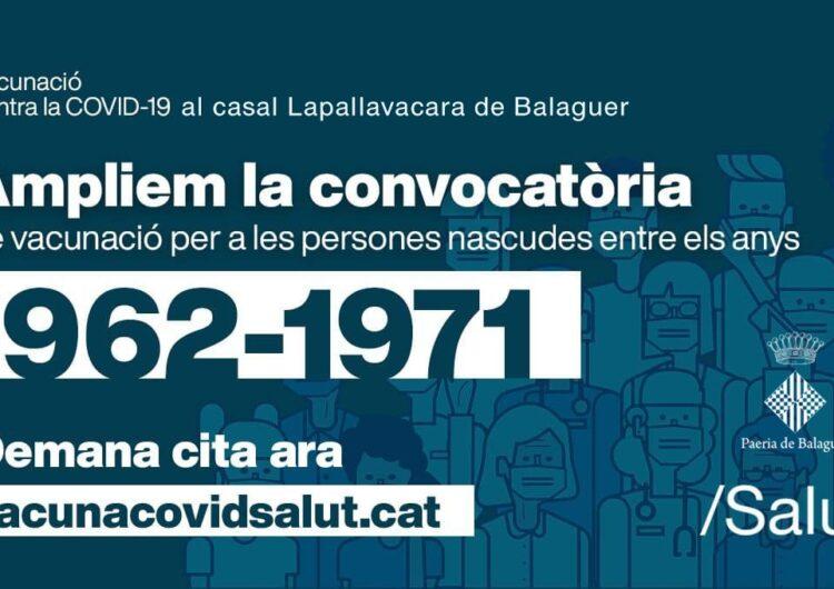 Els nascuts entre el 1962 i el 1971 ja poden demanar cita per vacunar-se contra la Covid-19