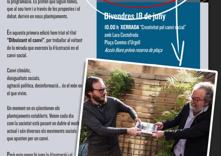 Oriol Malet i John Carlin inauguraran la primera edició de les 'Jornades Professionals d'il·lustració i Disseny Gràfic Ciutat de Balaguer. Dibuixant el canvi'