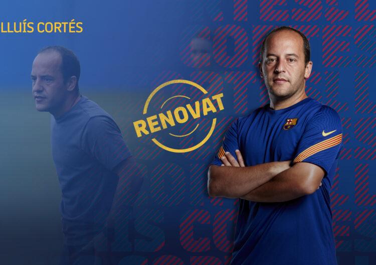 Lluís Cortés renova pel FC Barcelona fins al 2022