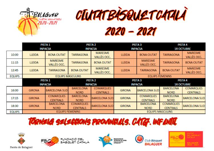 Cap de setmana intensiu de bàsquet al pavelló primer d'octubre