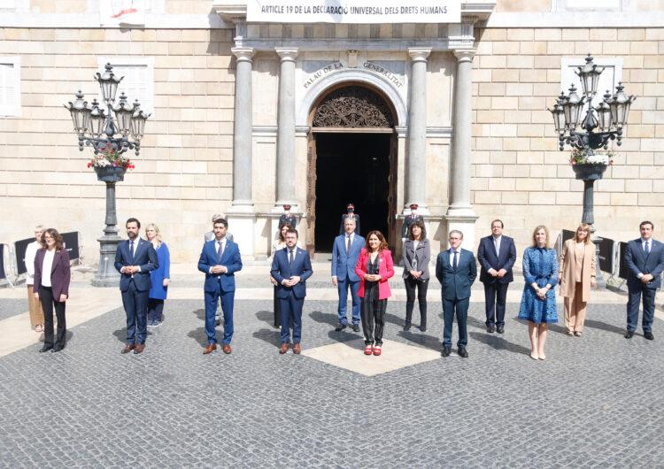 El vicepresident i els consellers del Govern d'Aragonès prenen possessió del càrrec