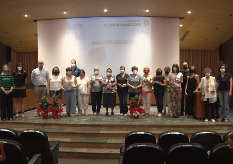 La Paeria entrega els premis de la quarta edició de 'Flors als balcons'
