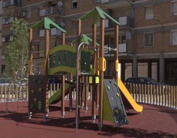 """Acaben les obres del nou parc infantil dels blocs de """"La Caixa"""""""