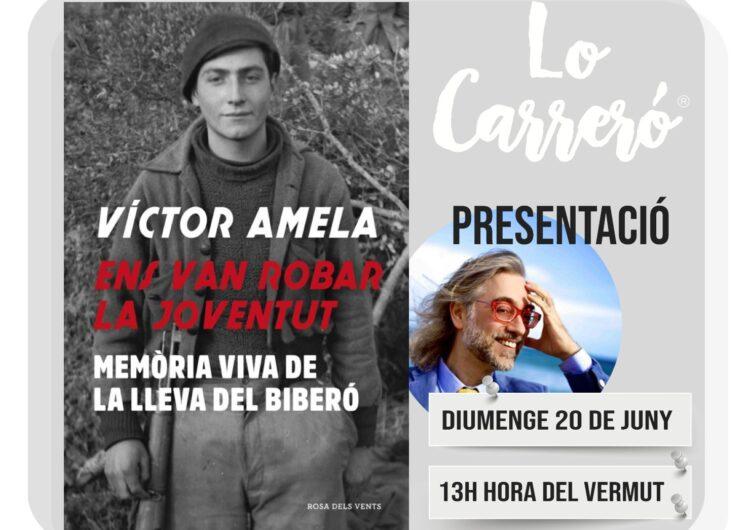 """Lo Carreró de Montgai presenta el llibre """"Ens van robar la Joventut"""" de Víctor Amela"""