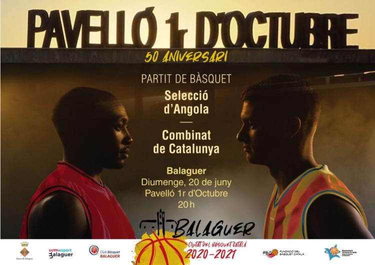 Tot a punt pel partit entre el combinat català i la selecció d'Angola en el 50è aniversari del Pavelló 1r d'Octubre