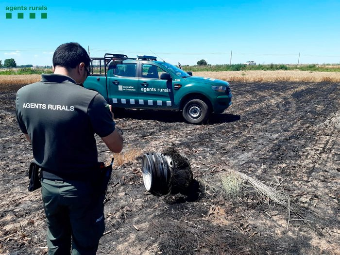 El Jutjat de Balaguer obre diligències pels incendis provocats pel camió que circulava amb una roda punxada