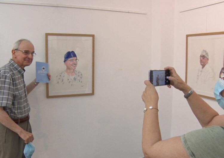 """""""Gràcies"""", trenta retrats d'Elíes Seguí en homenatge al personal sanitari del CAP de Balaguer"""