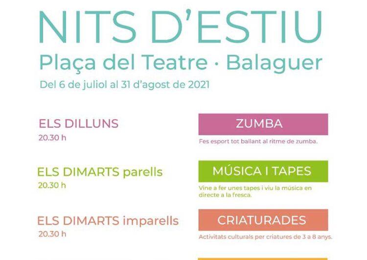Comencen les Nits d'Estiu de Balaguer amb zumba i el Música&Tapes