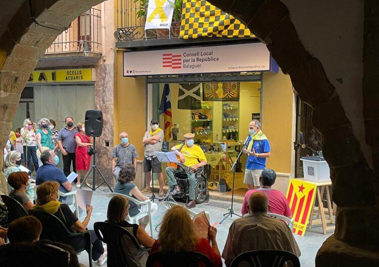 Jordi Turull fa parada a Balaguer en la seva 'Travessa per la llibertat'
