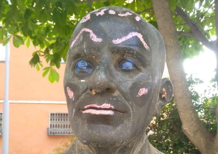El Museu de la Noguera restaura el bust de Manuel Marín després d'un atac vandàlic